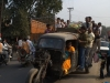 Traffic in India (overloaded car)