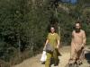 Guruji and Kharananda Mayi on the way to Babaji\'s cave