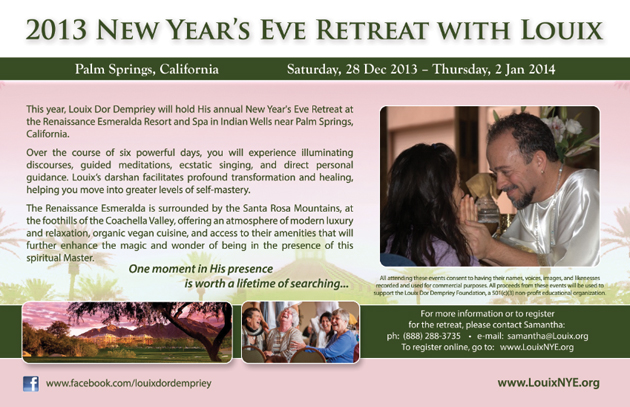 2013 New Year's Eve Retreat -- more information