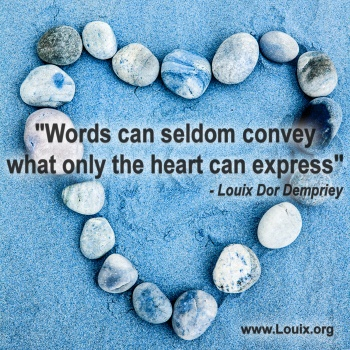 July quote - Words can seldom convey